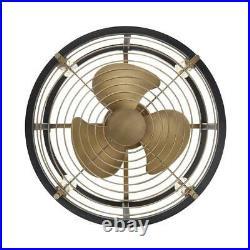 Ceiling Fan Light Kit Remote 21.5 in Vintage Brass Dual Mount Indoor/Outdoor