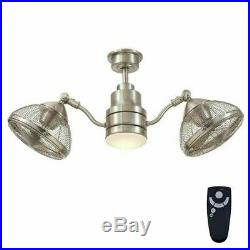 Ceiling Fan Light Kit Remote Control 42 in. LED Indoor Outdoor Brushed Nickel