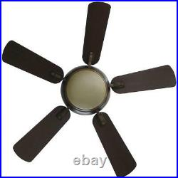 Ceiling Fan Light Kit Remote Control 44 in. LED Indoor 5-Blades Gilded Espresso
