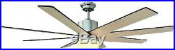 Ceiling Fan Light Kit Remote Control 8-Blades 60 In Span LED Opal Glass Shade