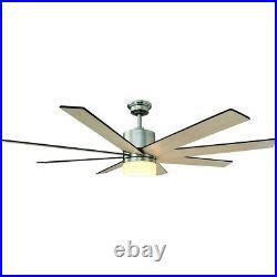 Ceiling Fan Light Kit Remote Control Indoor Zolman LED Brushed Nickel 60 in