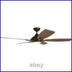 Ceiling Fan Light Kit Remote Control Integrated LED Etched Oil Rubbed Bronze
