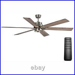Ceiling Fan Light Kit Remote Control Statewood Led Brushed Nickel 6 Blades 70