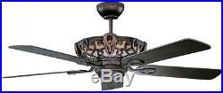 Ceiling Fan Luminance Aracruz 52 in. Indoor Oil Rubbed Bronze Light Kit New