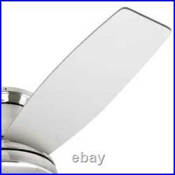 Ceiling Fan Sail Stream Brushed Nickel LED Indoor Flush Mount Light Kit Remote