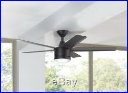 Ceiling Fan With Light And Remote Control Matte Black 52 in. LED Indoor Kit