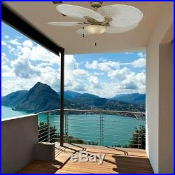 Ceiling Fan With Light Kit 48in Cappuccino Havana LED 5 Palm Blades Tropical New