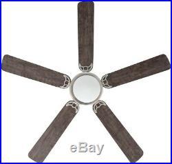 Ceiling Fan With Light Kit 56 Brushed Nickel 5 Blades Reversible Hugger Espresso