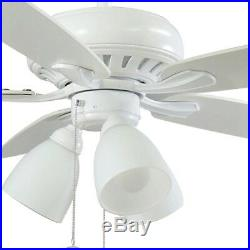 Ceiling Fan With Light Kit LED Matte White Smart WINK Remote Control 5 Blades