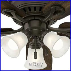 Ceiling Fan With Light Kit New Bronze 52 Flush Mount Low Profile LED Indoor