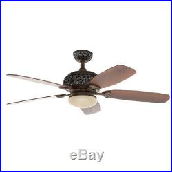 Ceiling Fan With Light Kit Remote Brown Hampton Bay 52 inch Indoor Caffe Patina