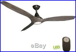 Ceiling Fan With Light Kit Vintage Pewter 3 Blades Remote Control Smart LED 56in