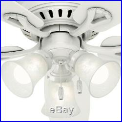 Ceiling Fan With Light Kit White 52 Flush Mount Low Profile LED Indoor