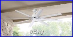 Ceiling Fan With Light Kit White 72 in. Indoor Outdoor Remote Control Included
