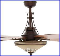 Ceiling Fan With Light Remote Control Kit 60 In. Oil Rubbed Bronze Indoor Decor