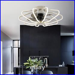 Ceiling Fan With Light kit Remote Control LED Modern Lamp Warm White Bedroom