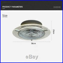 Ceiling Fan With Light kit Remote Control LED Round Transparent Lamp Dimmable