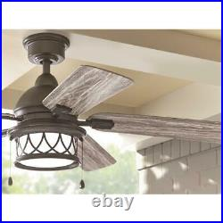 Ceiling Fan w Light Kit Artshire LED 5 Blades Quick Install Natural Iron 52 in