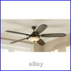 Ceiling Fan w Light Kit Frosted Glass Downrod Amaretto LED French Beige 70 in