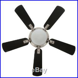 Ceiling Fan w Light Kit Remote Control Midili LED Indoor Brushed Nickel 44 in
