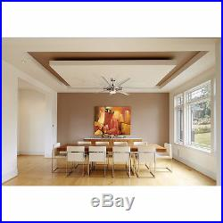 Ceiling Fan with Integrated Light Kit and Remote 9-Blade Commercial Residential