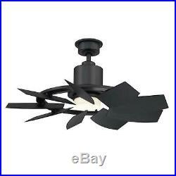 Ceiling Fan with LED Light Kit 36in Matte Black 3 Speed Reversible Motor 9 Blades