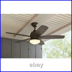 Ceiling Fan with LED Light Kit 52 in. Indoor/Outdoor Bronze Ackerly HDC