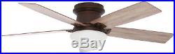 Ceiling Fan with LED Light Kit Remote Control Low Profile Flush Mount Bronze 52