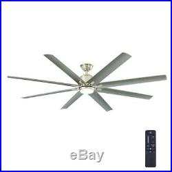 Ceiling Fan with LED Light Kit Remote Large 72 Inch 8 Blades 9 Speed Motor
