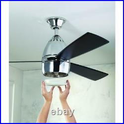 Ceiling Fan with LED Light Kit and Remote Control 52 in. Chrome Nepal HDC