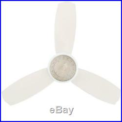 Ceiling Fan with Light Kit 4 Inch Flush Mount Indoor White With Remote Control
