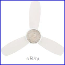 Ceiling Fan with Light Kit 4-Inch Flush Mount Indoor White with Remote Control