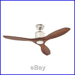 Ceiling Fan with Light Kit 52-Inch LED Indoor Remote Mid-Century Modern Downrod