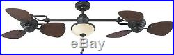 Ceiling Fan with Light Kit 6 Blade 74-inch 3 Speed Settings Indoor Outdoor