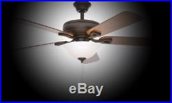 Ceiling Fan with Light Kit Indoor Oil-Rubbed Bronze 5-Reversible Blades 52 in