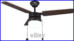 Ceiling Fan with Light Kit Indoor Oil Rubbed Bronze Vintage Wood Blades 42