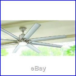 Ceiling Fan with Light Kit Remote Control LED Indoor/Outdoor Brushed Nickel 72