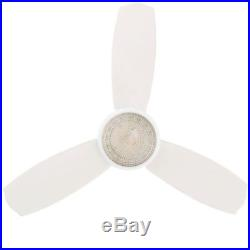 Ceiling Fan with Light Kit and Remote Control Indoor Room Airflow White 44 inch