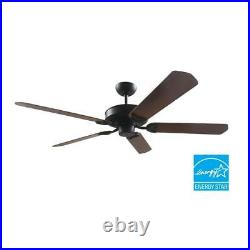 Ceiling Fan with Remote Control 60 in. Roman Bronze Vento (Light Kit Compatible)