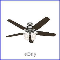Ceiling FanChanning 60 inch LED Indoor Brushed Nickel with Light Kit 5-blades