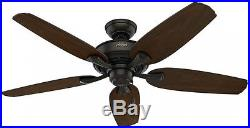 Channing Ceiling Fan with Light Kit 52 in. Indoor New Bronze Reversible Hunter