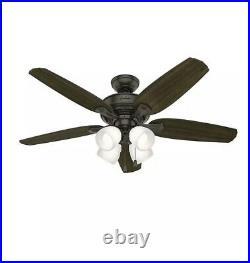 Channing II LED Indoor Ceiling Fan Light Kit 52 Noble Bronze 3380 CFM 9 Watt