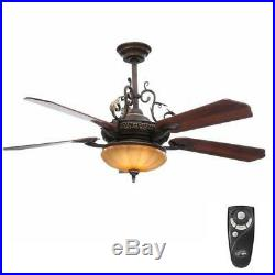 Chateau Deville Ceiling Fan by Hampton Bay with Light Kit and Remote