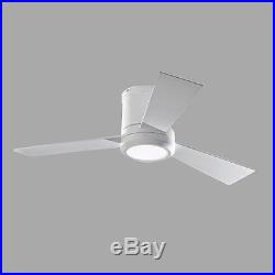 Clarity II Ceiling Fan with LED Light Kit 42 in. Rubberized White Monte Carlo