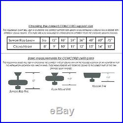 Concord 52STG5E Stargate 52 5 Blade Indoor Ceiling Fan with Light Kit Downrod