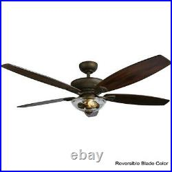 Connor 54'' LED Bronze Dual-Mount Ceiling Fan with Light Kit & Remote Control HDC