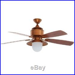 Copperhead 52 in. Indoor/Outdoor Weathered Copper Ceiling Fan with Light Kit and