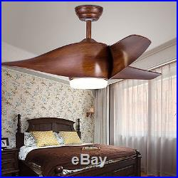 Country Style Ceiling Fan Light 52'' Flush Mount Kit with Remote Control