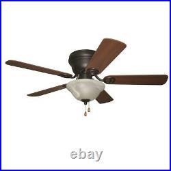 Craftmade 42 Wyman Ceiling Fan, Oil Rubbed Bronze/Bowl Light Kit WC42ORB5C1