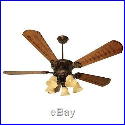 Craftmade Ceiling Fan, Oiled Bronze Epic with 70' Blades and Light Kit K10685